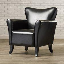 Armonk Faux Leather Arm Chair