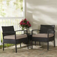 Giancarlo 3 Piece Lounge Seating Group with Cushion