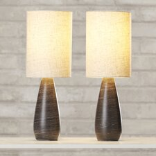 "Hartsdale 17.5"" H Table Lamp with Drum Shade (Set of 2)"