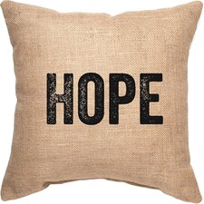 Hope Decorative Burlap Throw Pillow