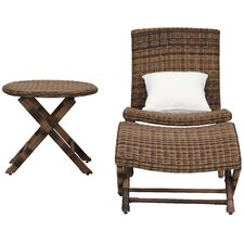 Kingpalm Outdoor 3 Piece Chair Set