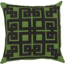 Estelle Embroidered Linen Throw Pillow