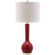 "Mae Long Neck 30.5"" H Table Lamp with Drum Shade"