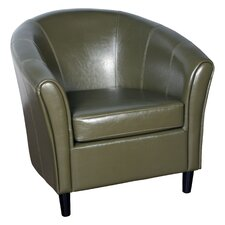 Karp Barrel Bonded Leather Lounge Chair