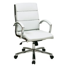 Dunarragan Mid-Back Faux Leather Executive Chair with Padded Arms