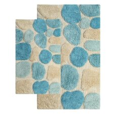 Gallager 2 Piece Contemporary Bath Rug Set