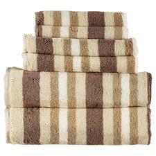 Bath Stripes Cotton 6 Piece Towel Set