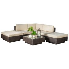 Sicily 6 Piece Seating Group with Cushions