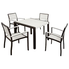Mazur Outdoor 5 Piece Dining Set
