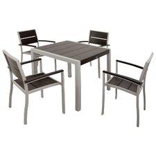 Mazur Outdoor 5 Piece Dining Set