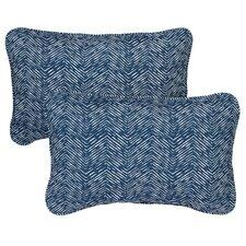 Barrs Court Corded Indoor/Outdoor Lumbar Pillow (Set of 2)