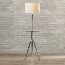 "Garton 57.5"" Floor Lamp with Glass Tray"