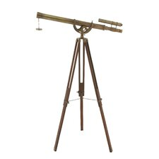 Decorative Brass Wood Telescope