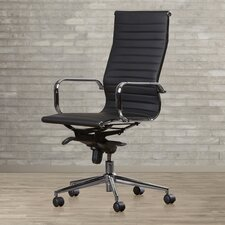Kingston High-Back Leather Office Chair with Arms