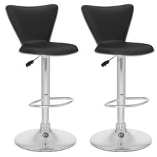 Honea Adjustable Height Swivel Bar Stool (Set of 2)