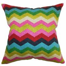 Espinal Zigzag Cotton Throw Pillow