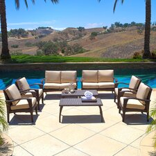 Weathersby Outdoor Wicker 8 Piece Seating Group with Cushion