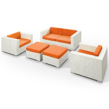 Caylor 5 Piece Deep Seating Group with Cushions