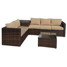 Armbruster 4 Piece Sectional Seating Group with Cushions