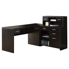 Covey L-Shaped Home Office Computer Desk
