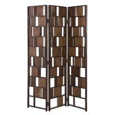 "71"" x 47.5"" 3 Panel Room Divider"