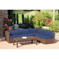 Doerr 3 Piece Deep Seating Group with Cushions