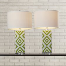 "Valenzuela 27"" H Table Lamp with Drum Shade (Set of 2)"