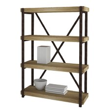 """Croskey 44"""" Accent Shelves Bookcase"""