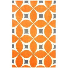 Stoltenberg Hand-Woven Deep Orange Area Rug