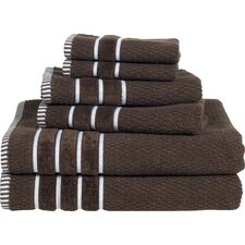 Delfino Rice Weave 6 Piece Towel Set