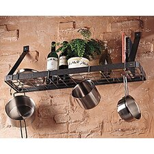 Chanti Stainless Steel Bookshelf Pot Rack