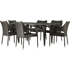 Dupuis Outdoor 7 Piece Dining Set