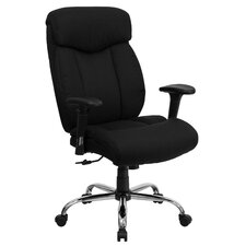 Dewalt High-Back Big and Tall Leather Executive Chair with Arms