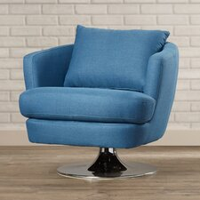 Sitton Fabric Swivel Club Chair