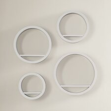 Evander 4 Piece Circle Wall Floating Shelf