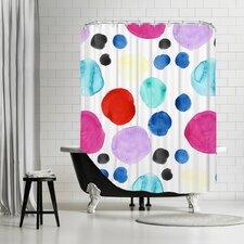 Witzel Big Dots Shower Curtain