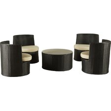 Oahu 5 Piece Outdoor Seating Group with Cushion