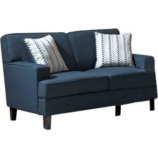 Perillo Linen Loveseat