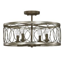 Cliffside 4 Light Semi Flush Mount