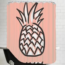 The Glass Mountain Ananas Blackgold by The Glass Mountain Shower Curtain