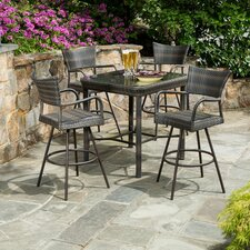 Cowling All Weather Wicker 5 Piece Bar Set