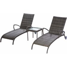 Cowling All Weather Wicker Double Chaise Lounge