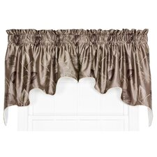 """Wanamaker Embroidered Leaf Lined Duchess 100"""" Curtain Valance"""