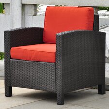 Katzer Wicker Resin Aluminum Contemporary Patio Chair with Cushion