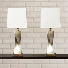 "Brendan 31"" H Table Lamp with Square Shade (Set of 2)"