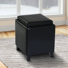 Carroll Storage Ottoman with Tray