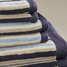 Bath Stripes Cotton 6 Piece Towel Set