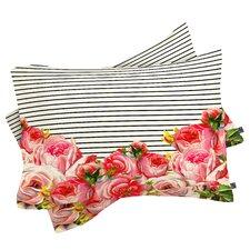 Broman Bold Floral and Stripes Pillowcase