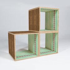 "Mint Stripes and Arrows 15"" Cube Unit Bookcase (Set of 3)"