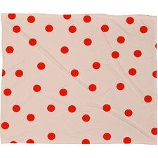 Buckelew Vintage Dots Plush Fleece Throw Blanket